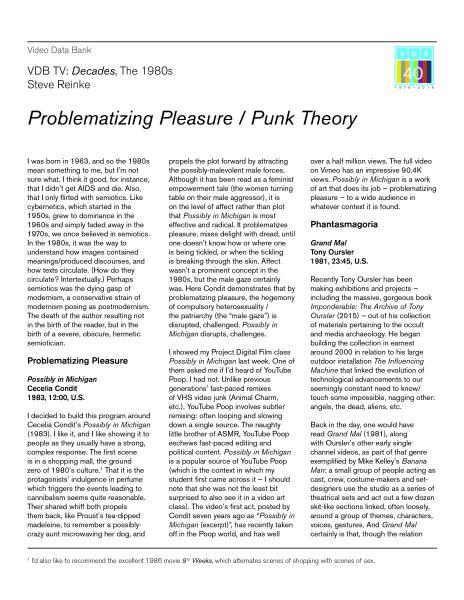 Problematizing Pleasure Essay