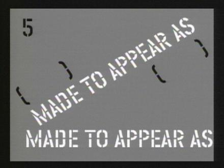 Lawrence Weiner: There are Things that Move Outside of Motion